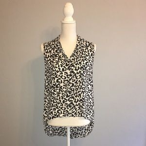 Forever 21 Sleeveless Sheer Leopard Blouse